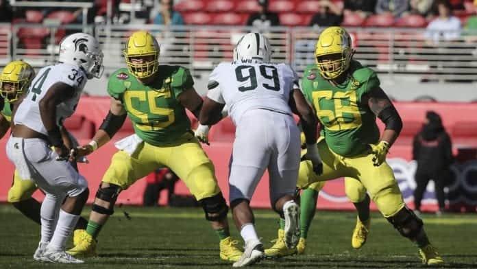 Oregon offensive line oregon offensive linemen