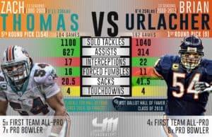 Zach Thomas vs Brian Urlacher