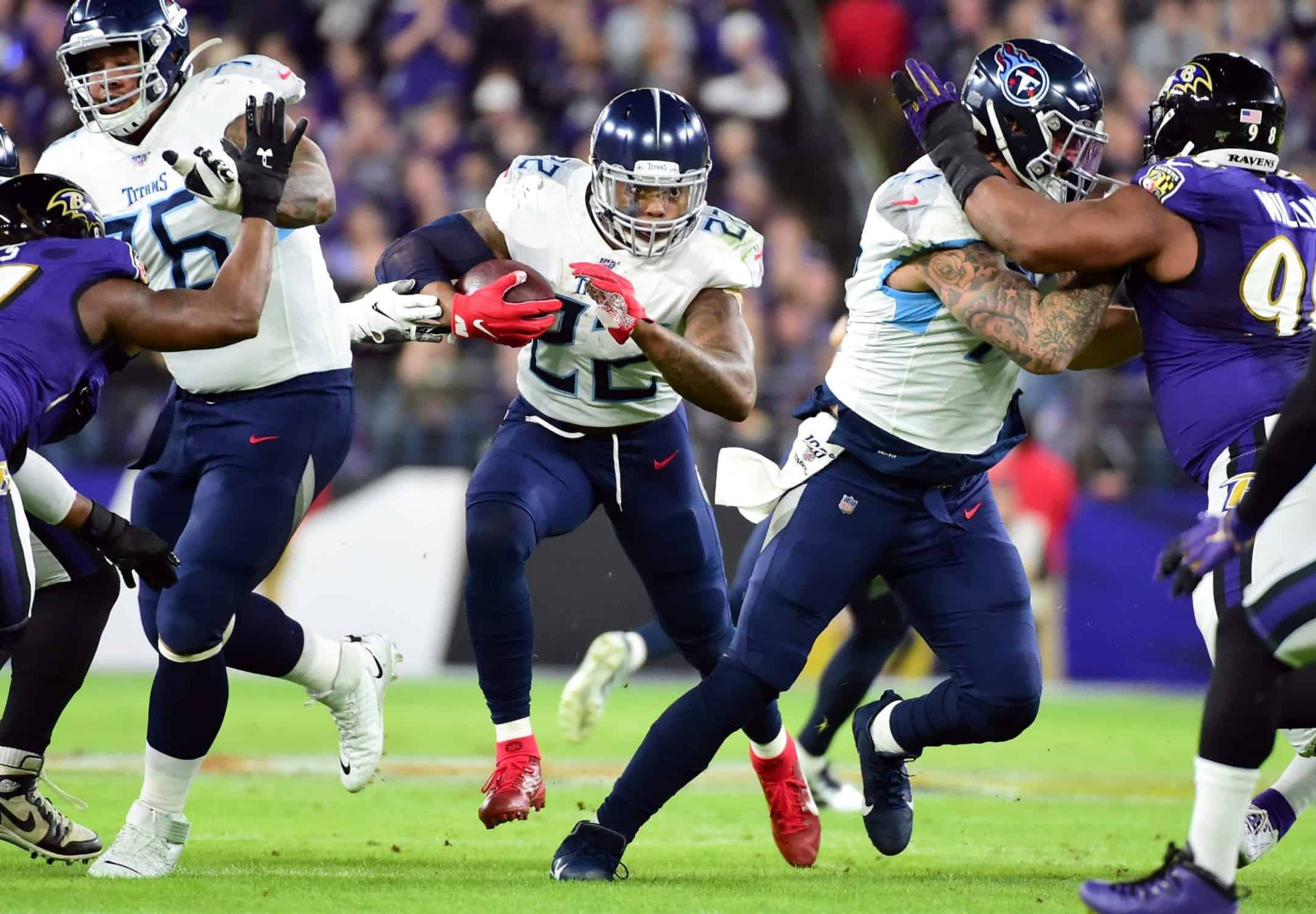 Derrick Henry is running over the competition in the NFL Playoffs