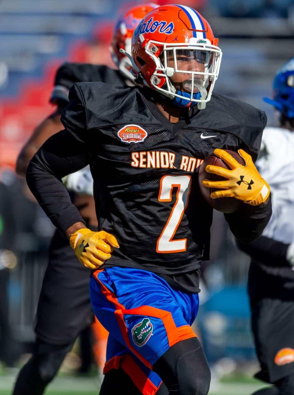 Lamical Perine runs through the 2020 Senior Bowl