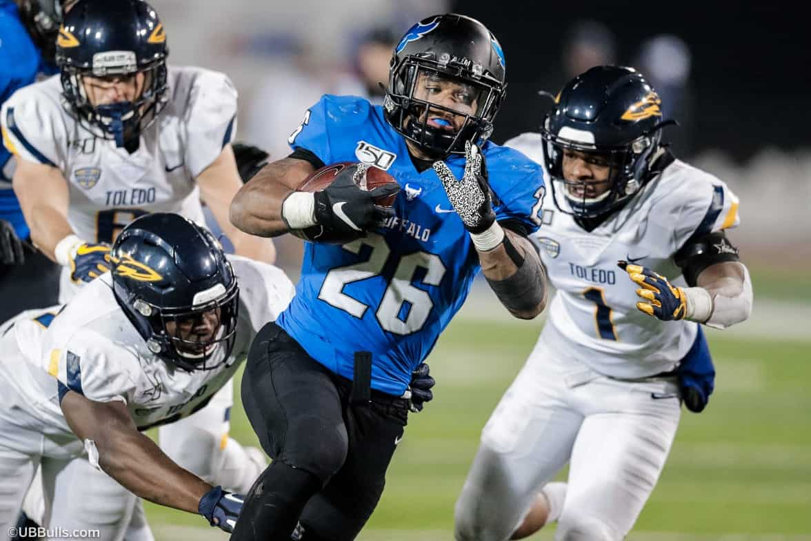 Buffalo running back Jaret Patterson is a 2021 NFL Draft sleeper