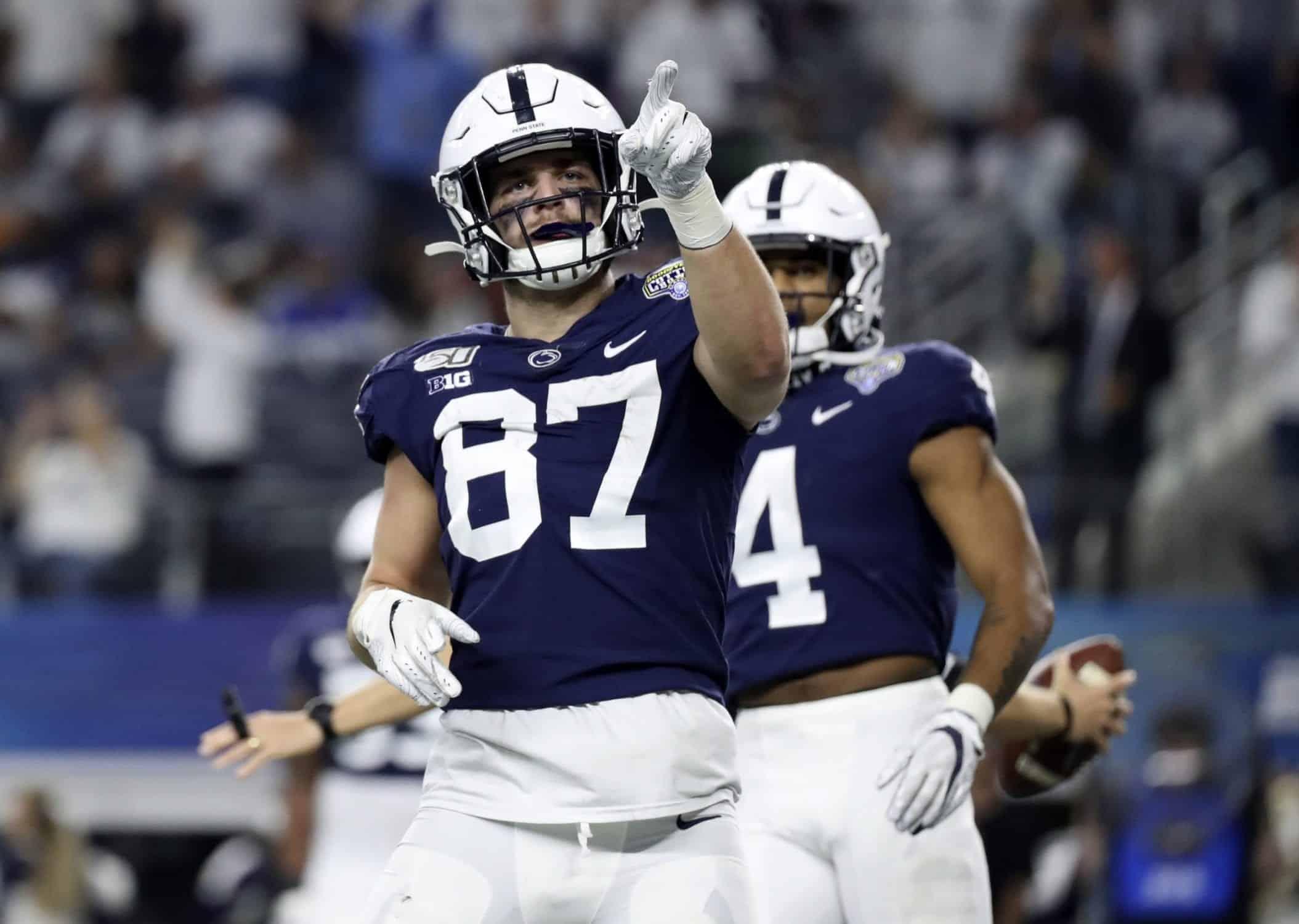 Penn State tight end Pat Freiermuth a top option for 2021