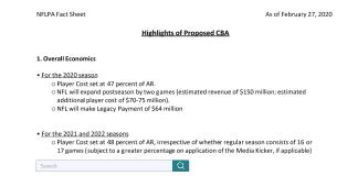 NFL CBA Fact Sheet