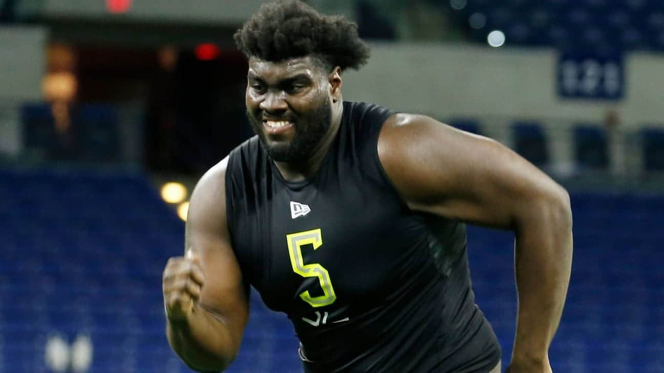 At least six offensive tackles taken in round one of the 2020 NFL Draft