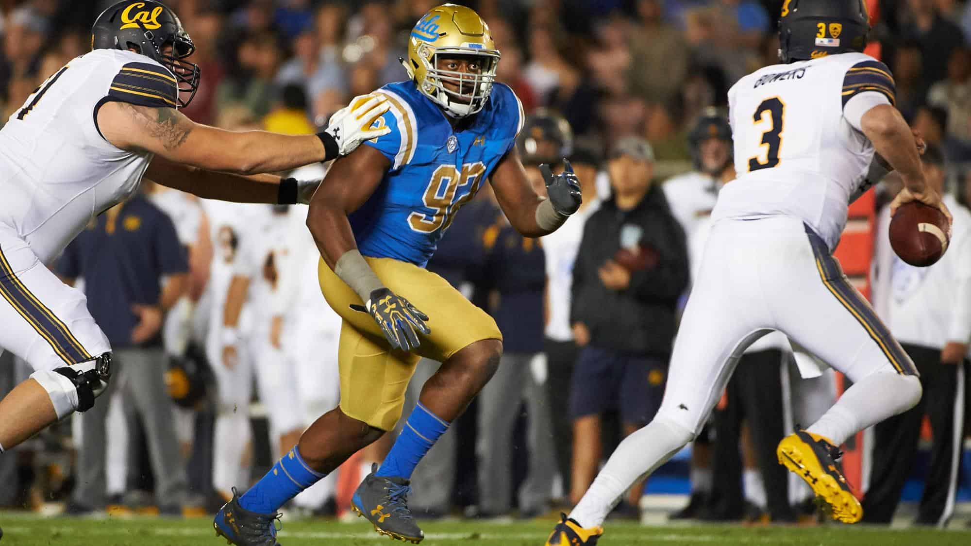 UCLA defensive tackle Osa Odighizuwa is a high upside pass rusher
