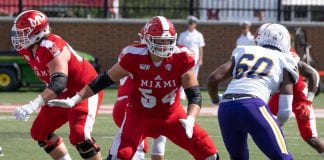Miami RedHawks offensive tackle Tommy Doyle is a player to watch