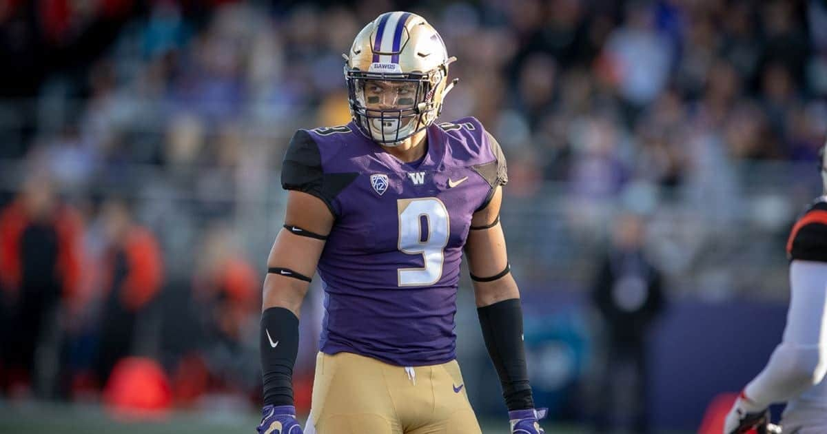 Washington Huskies edge rusher Joe Tryon poised for stardom