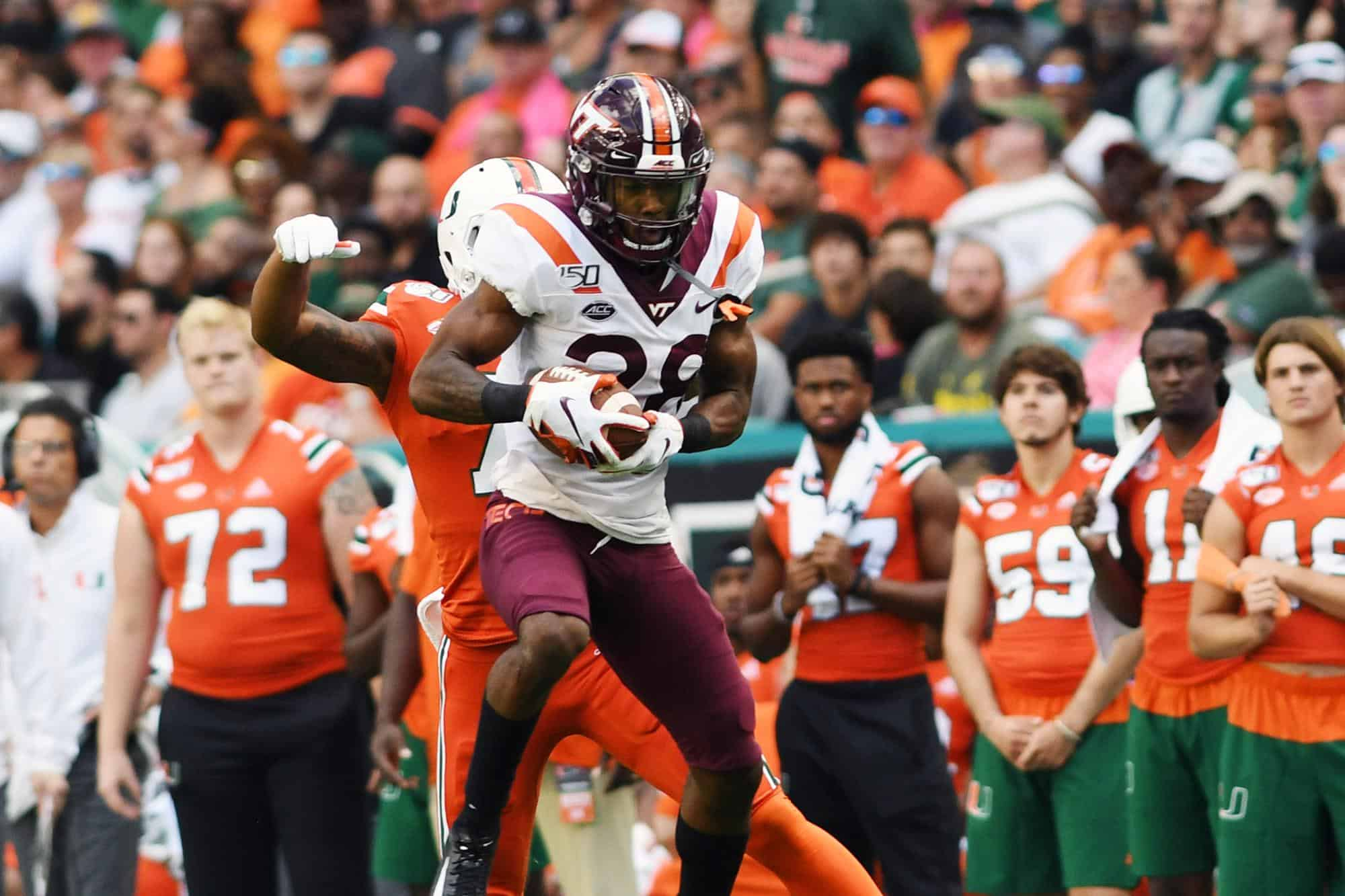 Virginia Tech cornerback Jermaine Waller has the potential to rise