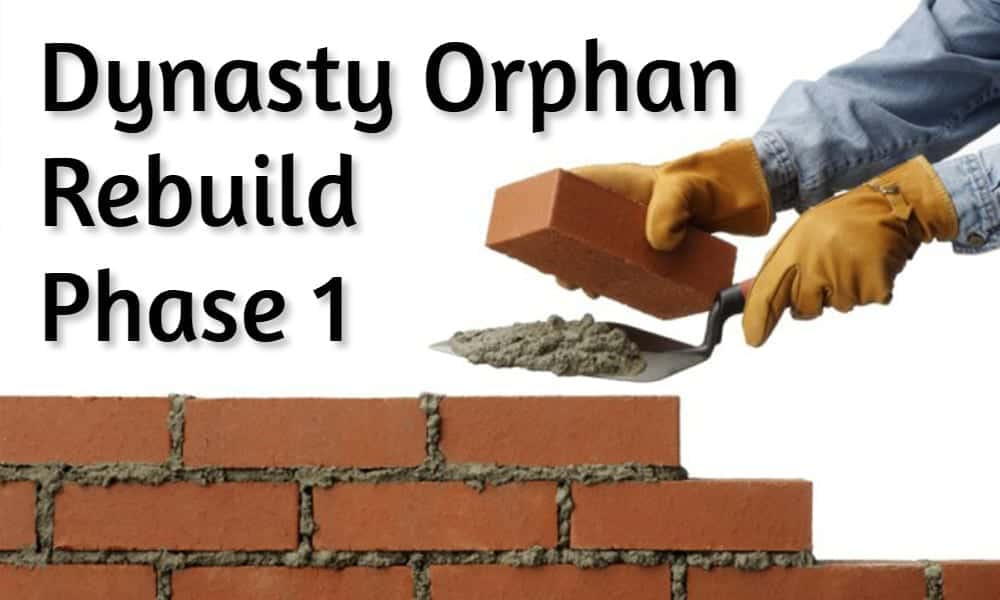 Dynasty Orphan Rebuild: Phase 1