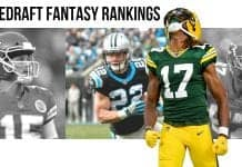 Preseason Redraft Fantasy Football 1QB & SuperFlex PPR Rankings