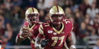 Boston College guard Zion Johnson is an NFL Draft sleeper