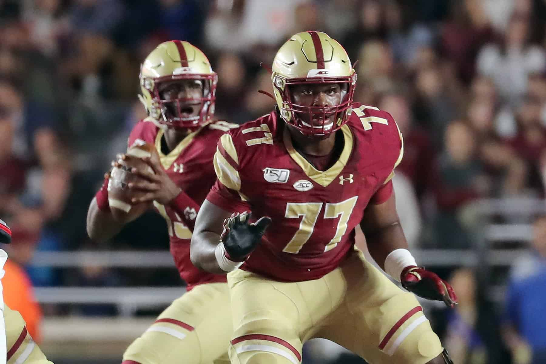 Boston College guard Zion Johnson is an NFL Draft sleeper