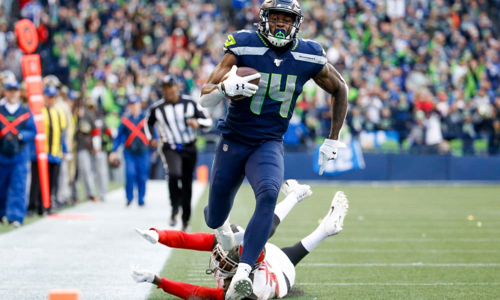 D.K. Metcalf's fantasy performance vs. the NFC West