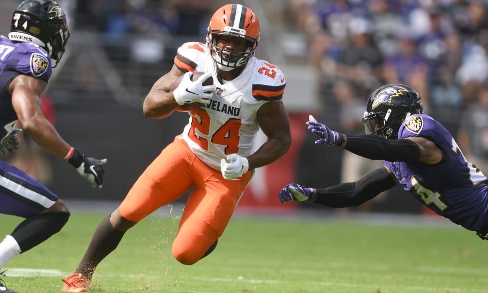 NFL: Betting: Nick Chubb 2020 season-long rushing yards prop bet
