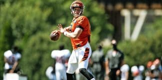 Joe Burrow adapting to the Bengals offense quickly in training camp