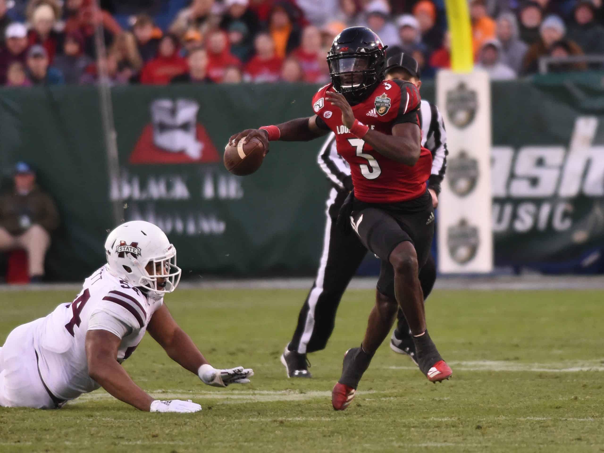 Louisville Quarterback Micale Cunningham has riser potential
