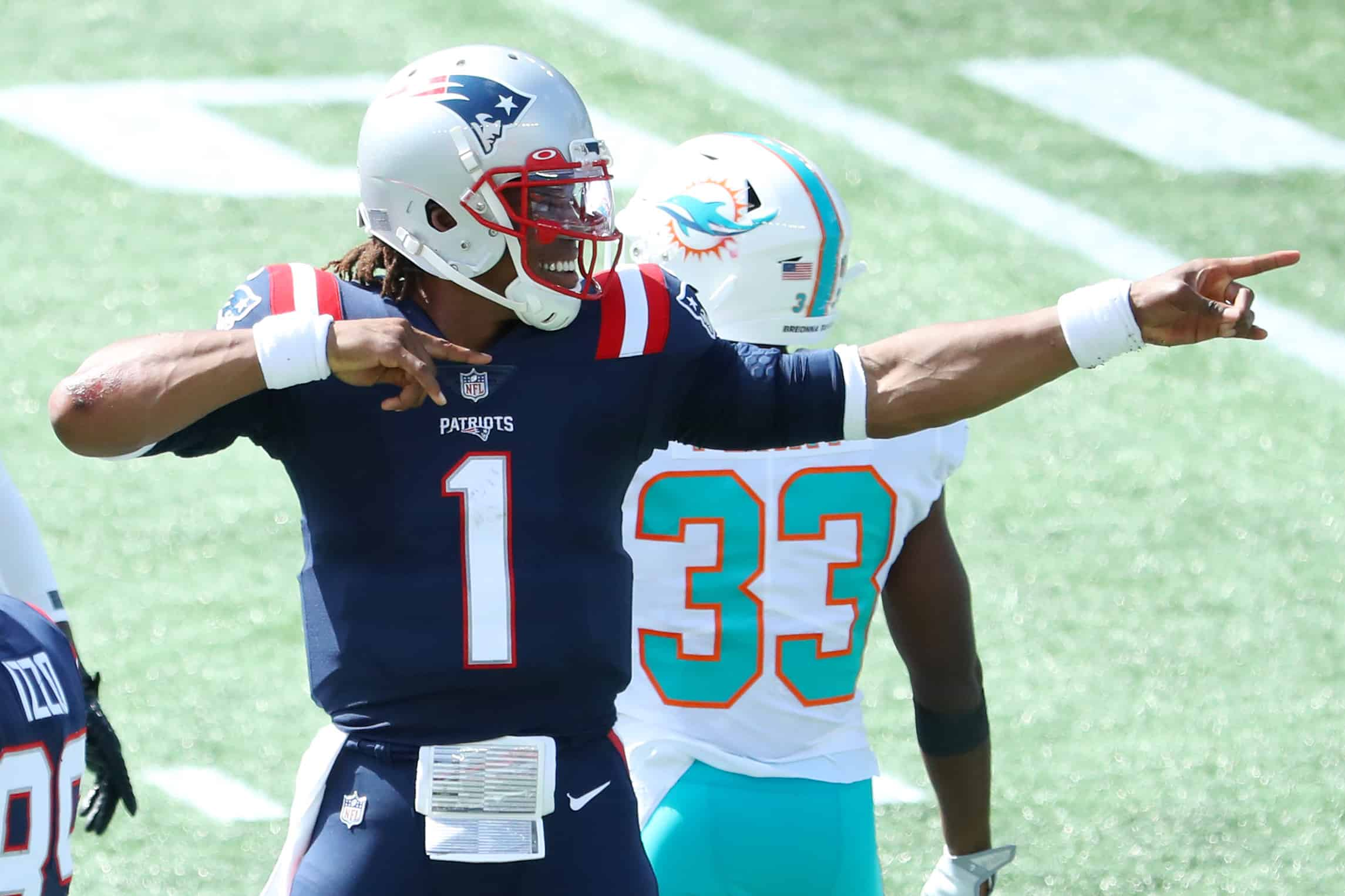 patriots dolphins takeaways week 1
