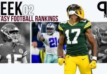 PPR Fantasy Football Week 2 Rankings 1QB and Superflex