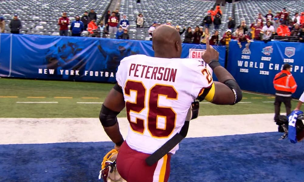 What is Adrian Peterson's fantasy value after signing with the Lions?