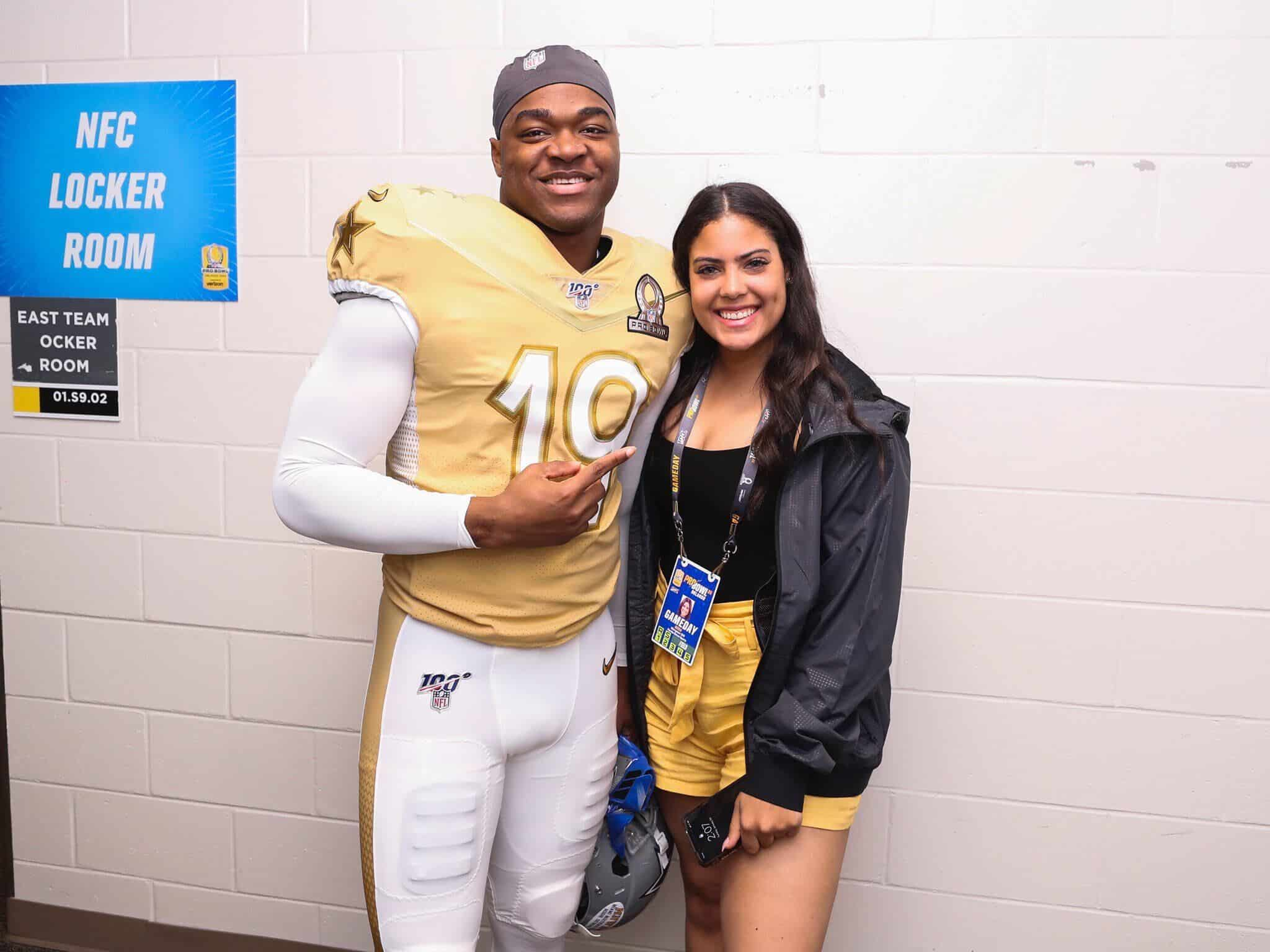 Women in Sports: Margaux Gill with Courtland Sutton, one of the NFL players she represents.