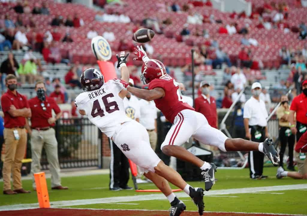 Patrick Surtain II will receive a thorough test when Alabama face Georgia