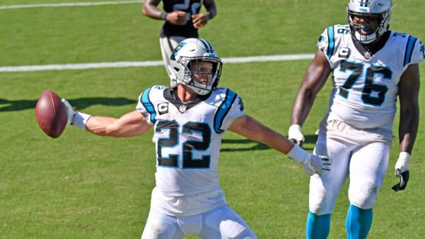 christian mccaffrey fantasy panthers rb, mike davis