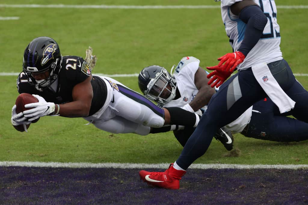 Best Ravens RB play for Wednesday Night Football? JK Dobbins, Mark Ingram with most fantasy value