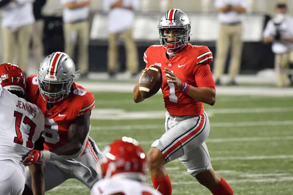 Is Justin Fields slipping down draft boards ahead of his pro day?