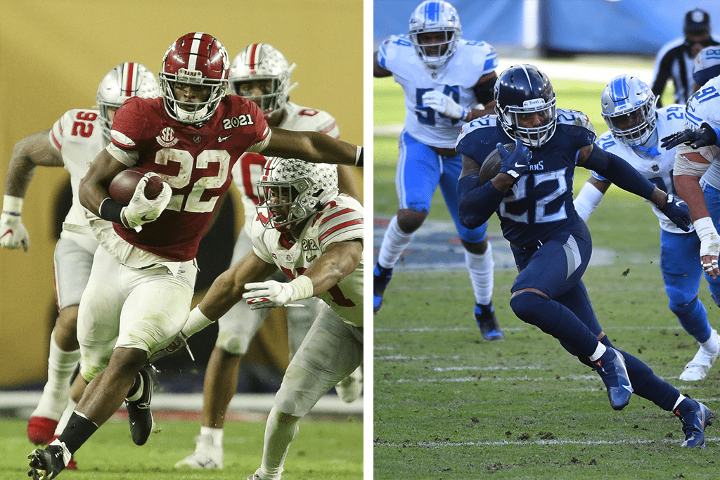 Najee Harris vs. Derrick Henry: Which Alabama RB will have better NFL career?