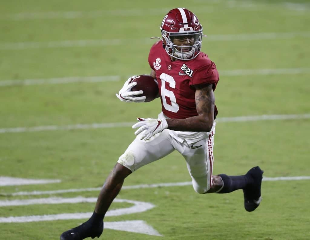 Is DeVonta Smith's weight a problem at the NFL level?