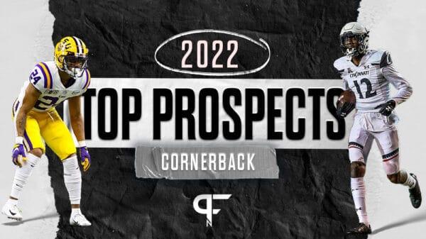 Top cornerbacks in the 2022 NFL Draft include Derek Stingley Jr., Kaiir Elam