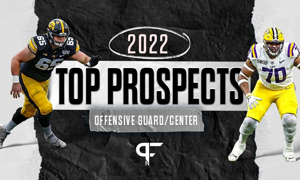 Top guards and centers in the 2022 NFL Draft include Tyler Linderbaum, Kenyon Green