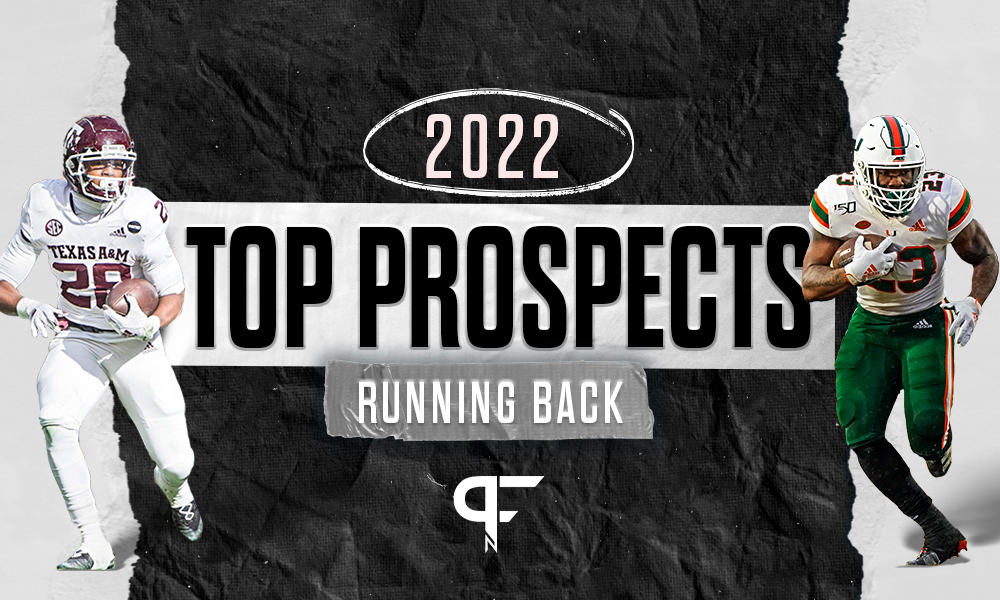 Top running backs in the 2022 NFL Draft include Zamir White, Breece Hall