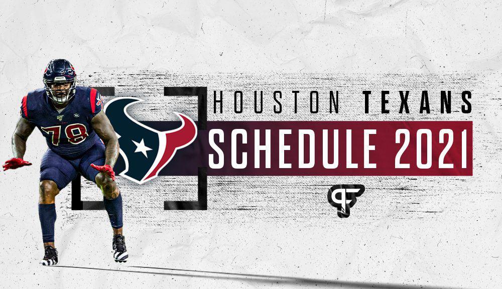 houston texans jersey schedule