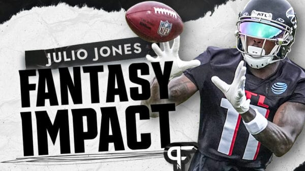 How will a Julio Jones trade impact fantasy outlooks for Calvin Ridley, Russell Gage, and Kyle Pitts?