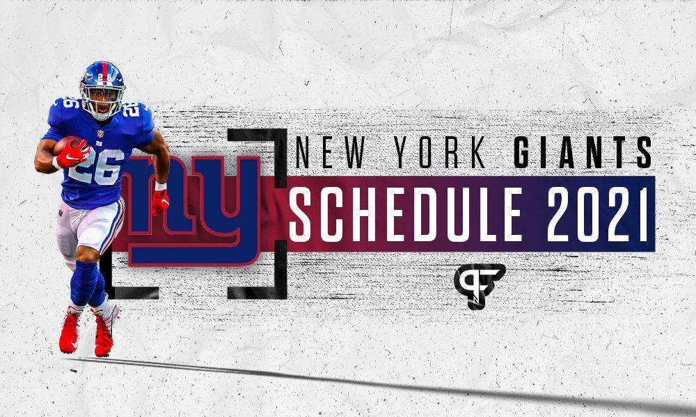New York Giants schedule 2021