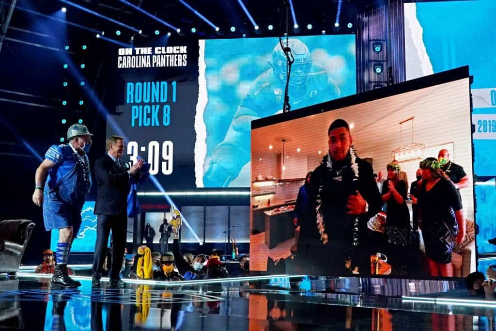 Offensive tackles drafted in the 2021 NFL Draft