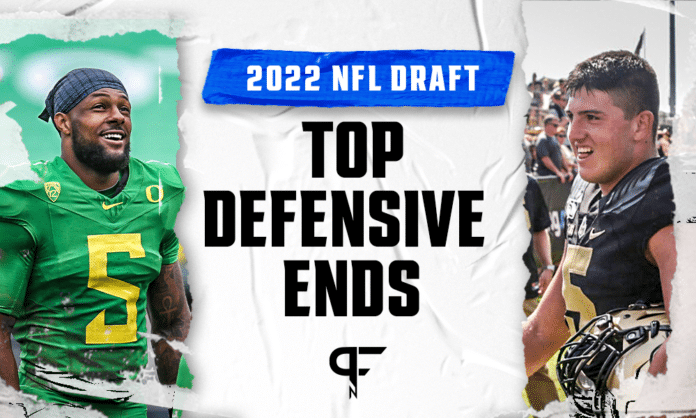 Top defensive ends in the 2022 NFL Draft include Kayvon Thibodeaux, George Karlaftis