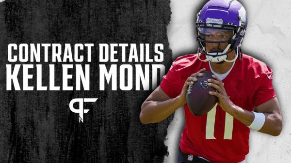 Kellen Mond's contract details, salary cap impact, and bonuses