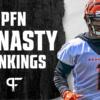 2021 Dynasty Rankings: Superflex 1QB Fantasy Football PPR Rankings
