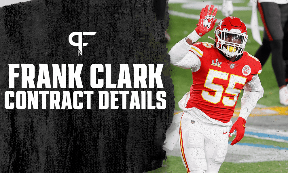 Frank Clark's contract details, salary cap impact, and bonuses