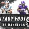 2021 RB Fantasy Football Rankings | Christian McCaffrey and Dalvin Cook top the list