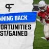 Running back touches lost/gained heading into 2021 fantasy football season