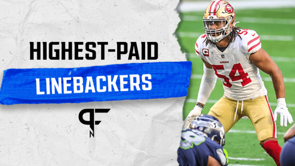 Who are the highest-paid linebackers in the NFL in 2021?