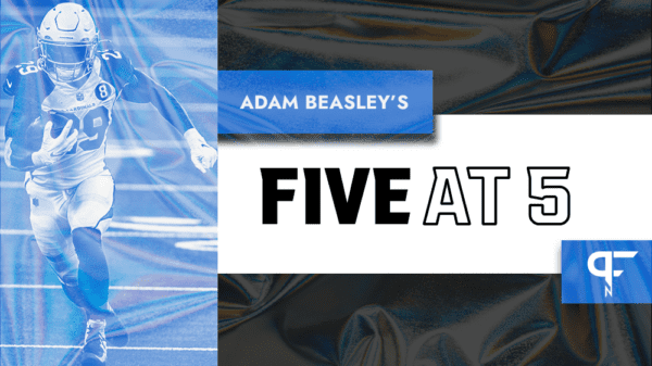 NFL news today Adam Beasley Five at 5