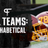 NFL Teams in Alphabetical Order: Listed by city and team name