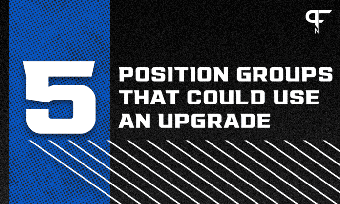 5 NFL positional groups that could use an upgrade before the season