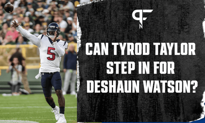 Can Tyrod Taylor step in for Deshaun Watson and help salvage the Houston Texans season?