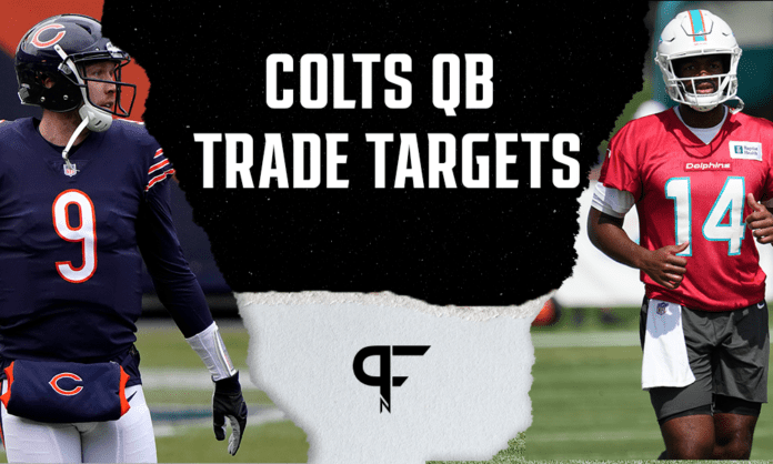 Are Jacoby Brissett and Nick Foles viable QB trade targets for the Colts?