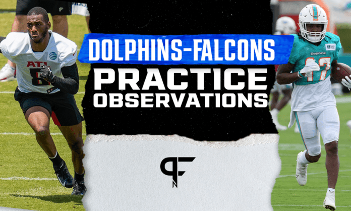 Falcons-Dolphins Camp: Pitts and Waddle debate begins, an Atlanta WR emerges, and more
